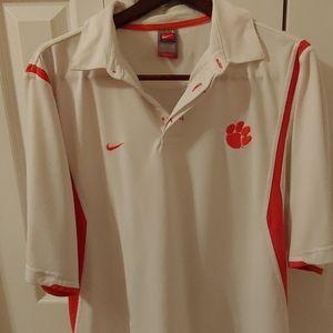 Nike DRI-FIT Clemson Tigers Mens Polo. Size L.